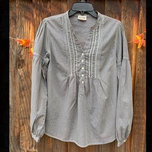 Convers grey mini stripe 100% cotton blouse